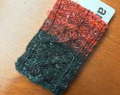 Ornamental (a Cabled Knit Card Holder)