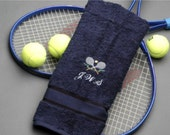 Personalized Tennis Towel, Tennis, Custom Name Initials, Embroidered Gifts for Men, Sports Towels, Under 20 Dollars, Cre8ivGifts