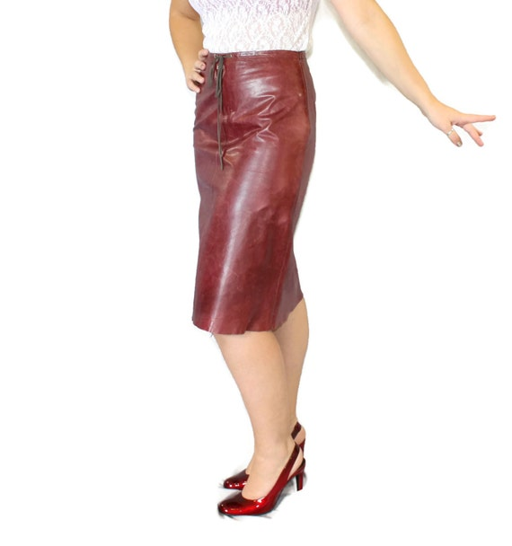 leather skirt by Banana Republic. Butter soft distressed leather ...