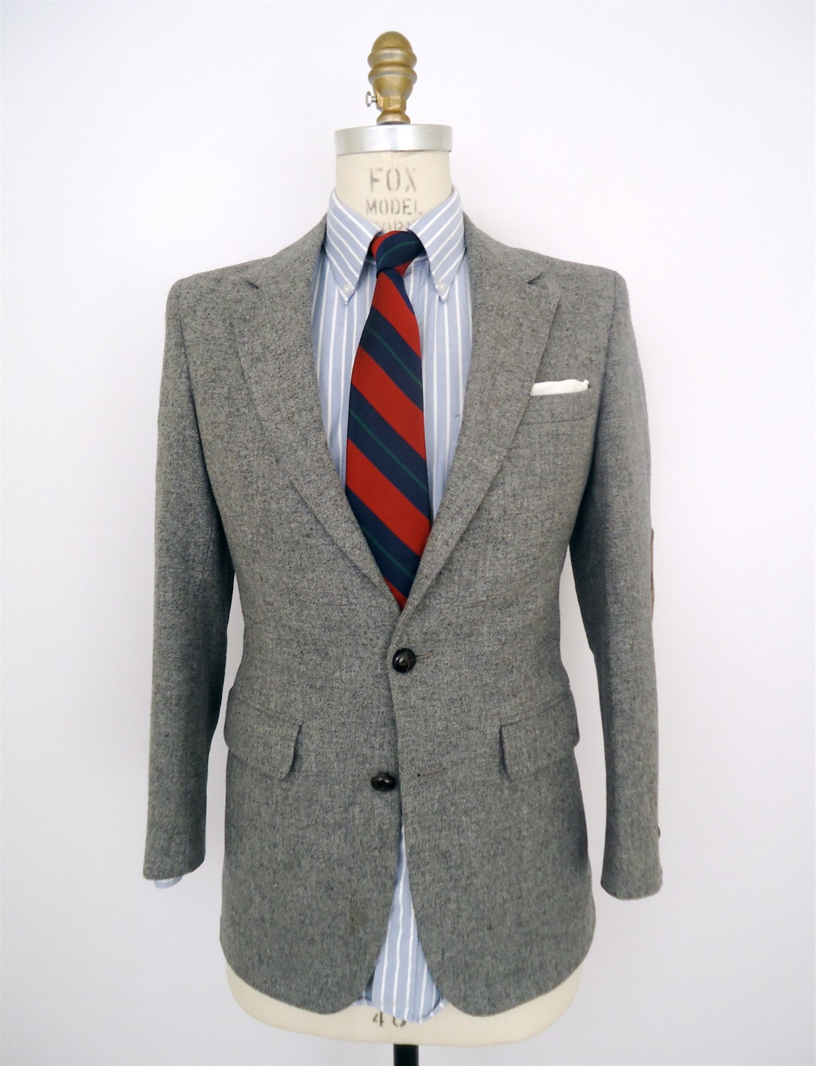 Wool sport coat with elbow patches