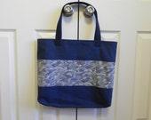 Embellished Navy Tote Bag 3 Options