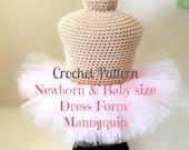 CROCHET PATTERN Newborn dress form mannequin Crochet Mannequin, Infant Mannequin