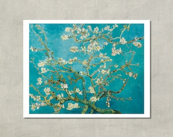 Branches Of An Almond Tree In Blossom, Van Gogh, 1890 - 8.5x11 Poster Print - also available in 13x19 - see listing details