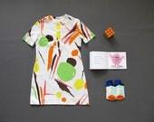 10 Y - Vintage jersey dress for girl 1960's