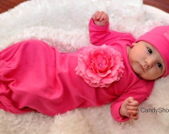 Take-Home-Outfit for Baby Girl - Fuchsia Flower by Candy Shop Kids