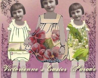 Victorienne's Easter Parade - Easter Paper Dolls - Spring Paper Dolls - Digital Paper Dolls