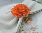 Napkin Ring Holders, Wedding Napkin Ring, Orange Napkin Rings, Table Decor, Dinner Party