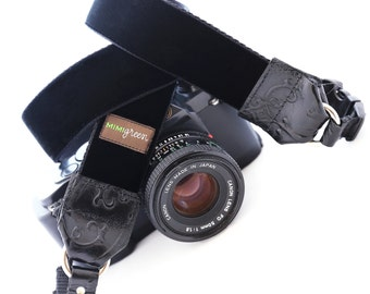 The ZELDA Velvet Camera Strap with Quick Release Buckles -- 1.5 inches wide