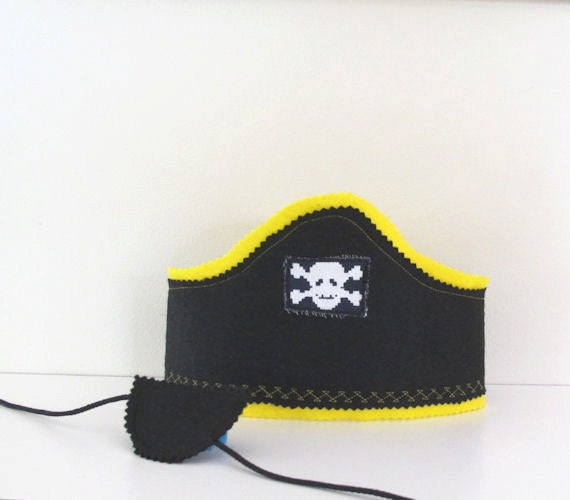 Boys Pirate Costume, Pirates Hat and Eye Patch, Pirate Party