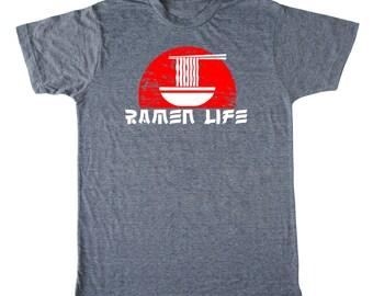 Ramen Life Men's shirt, ramen shirt, foodie t-shirt, chef shirt, asian t shirt, noodle t-shirt, japanese shirt, funny men's shirt, food pun