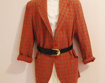 Vintage red and green plaid jacket