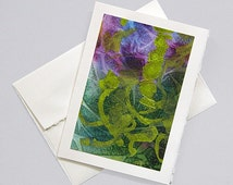Hand painted greeting card - Abstract III - OOAK original C-40