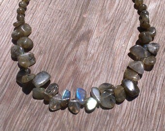 Labradorite beaded gemstone necklace