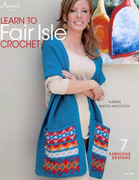 50% off Learn to Fair Isle Crochet Pattern Book