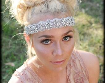 Crystal Headband ,Bridal Headband, Vintage Headband, Beaded Headband, Crystal Headband, Bridal Headpiece, Headpiece, Wedding Hair
