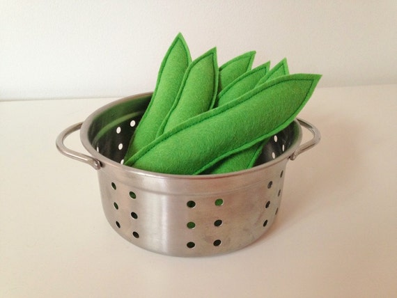 Pretend Play Felt Food Vegetable Runner Beans