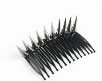 Maxi Spiked Hair Comb Metallics Studded Hair Clips Spike Crown Bun Cuff