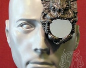 silver Cthulu latex monocle prosthetic - new color