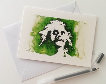 Michael Keaton, Beetlejuice, Betegeuse, Greetings Card