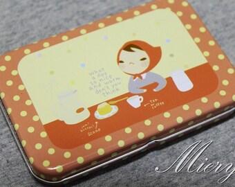 Tin Box Sticker Set - Korean Girl Sticker  - Deco Sticker - Diary Sticker - 12 sheets in - Little Red Riding Hood