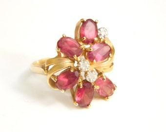 Pink Tourmaline Diamond Engagement Ring Karat Plumb 14 K Pure Gold Size 5/6 Wedding Engagement SALE Coupon Sparkle2017 For 15% Discount