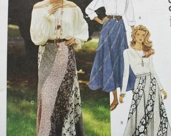Swirl Skirt Sewing Pattern McCall's 6956 Multiple Small Sizes