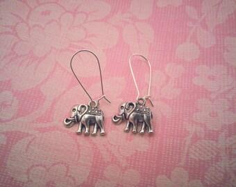Elephant Earrings, Safari Earrings, Silver Elephant Earrings, Save the Elephants, Silver Elephant Charms, Elephant Jewelry, Elephant-Lovers