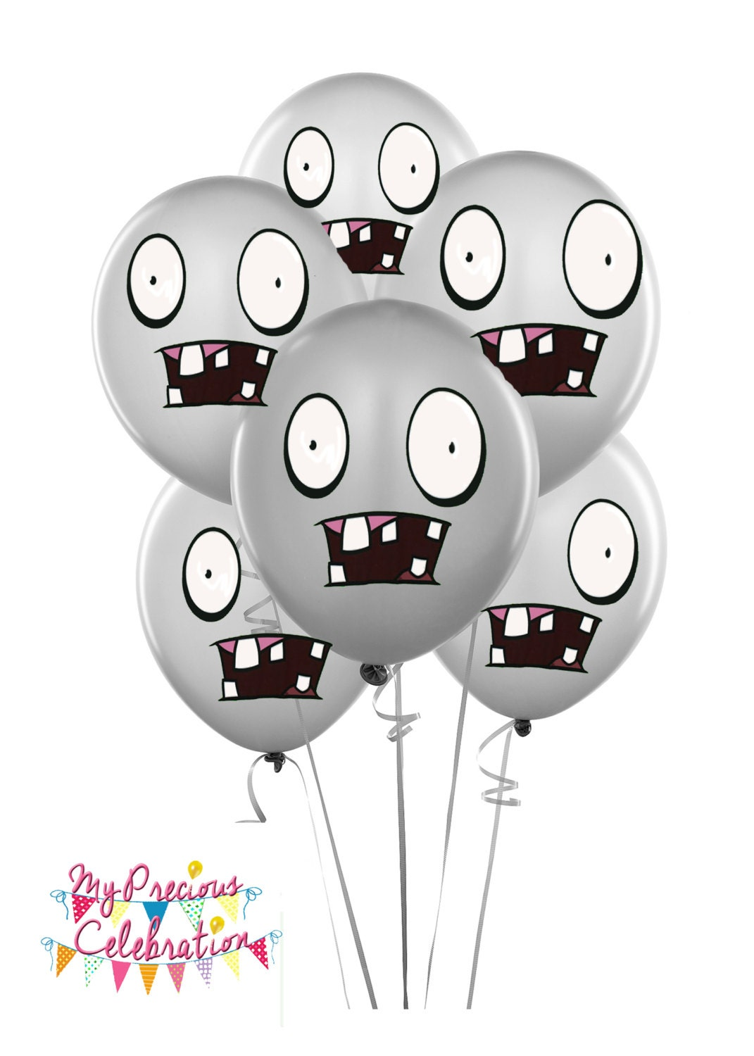 Zombies Balloons Plants Vs Zombies Inspired Birthday Party