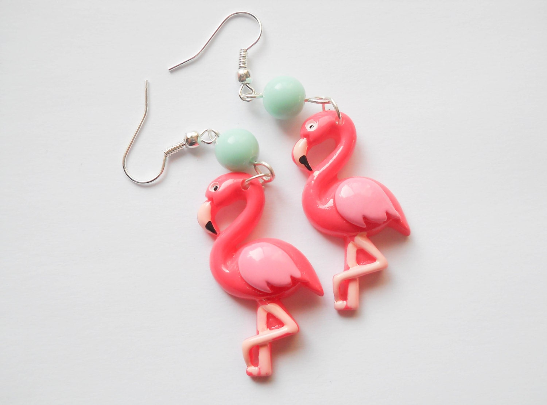 pink flamingo earrings flamingo earrings pink flamingos