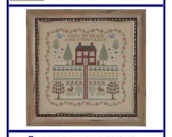 A Sampler  for Neine and Frump (BRD-049) Cross Stitch Design