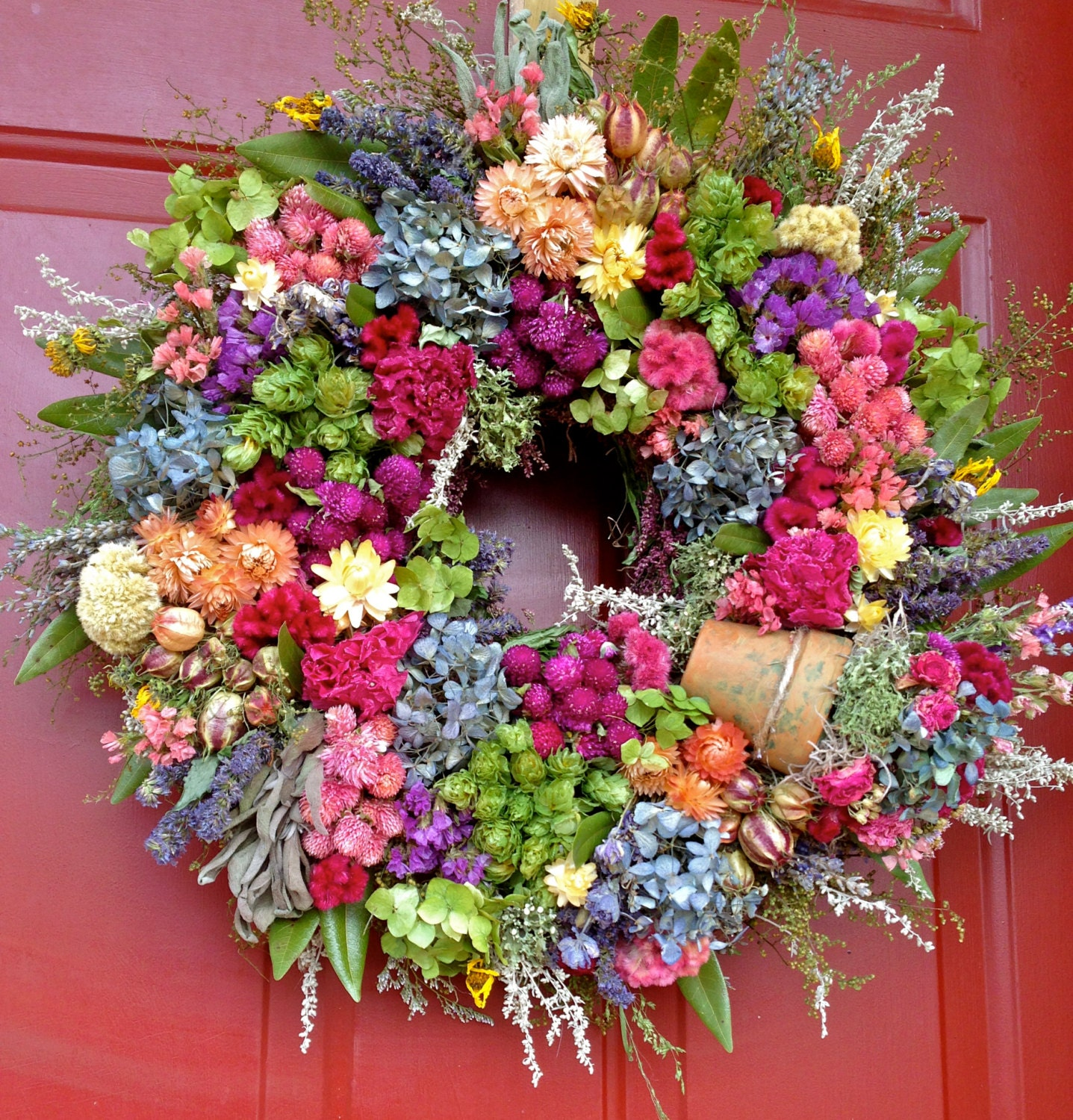 Spring MIxed Wreath by Westlake Florist |Spring Flower Wreath