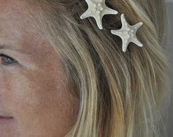 Starfish Bobby Pins - 3 PINS - Starfish Hair Accessories - Beach Weddings - Mermaid Hair -  Starfish Wedding - Starfish Hair Pin