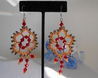 Floral Motif Earrings