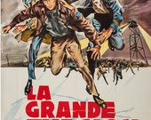 The Great Escape,1963 French Grande (47x63in), Linen Backed Original Vintage Movie Poster