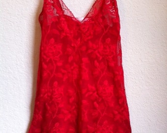 Red Lace Night Gown