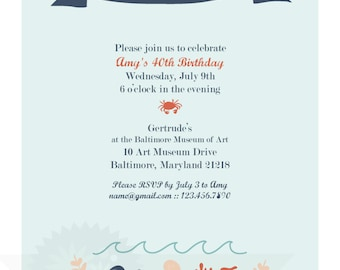 Down by the Bay Party Invitation