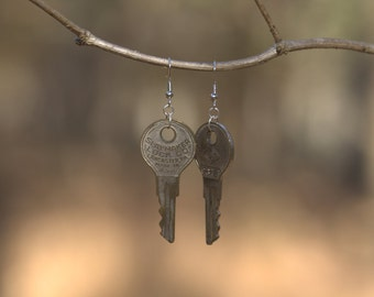 Slaymaker Vintage Key Earrings - FREE US SHIPPING