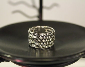 Handwoven Sterling Silver Ring