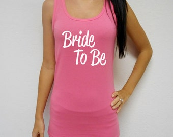 Bride-To-Be Tank. Bride Tank Top. Mother of the Bride Tank. Bridesmaid Tank Top. Maid of Honor Top. Bridal Party Tank Top