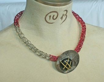 ANDORIAN LOVE CHILD Krypilo art necklace