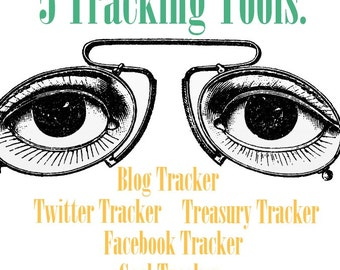 Etsy Tracking Tools - Spreadsheets - Facebook - Twitter - Blogs - Goals - Etsy Treasury