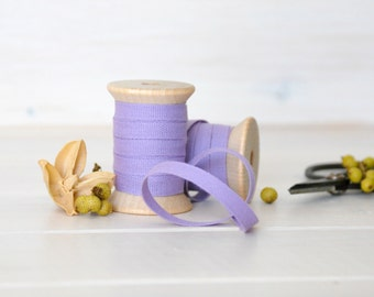 "Lavender Cotton Ribbon - 5, 20 or 109 Yards - 100% Cotton Ribbon - 1/4"" Wide - Lavender Trim - Eco Friendly Trims - DIY Etsy Wedding Bulk"