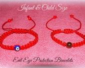 Evil Eye Protection Red String Bracelets- Infant And Child Size