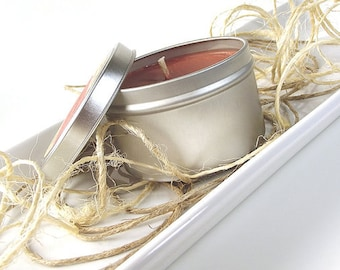 Creamy Nutmeg scented Soy Candle, Fall Scented Candle, Handmade Candle, Natural Candle, Fall Soy Candle, Gifts for Home, Candle Tin, 8 Ounce