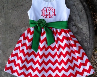 Baby christmas dress | Etsy