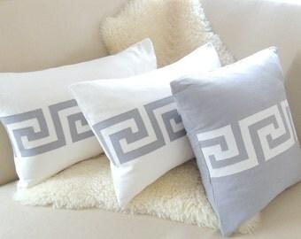 Greek Key Pillow Cover Set of 3