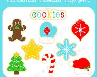 Christmas Cookies Clip Art - Digital File