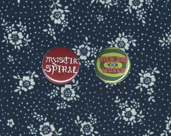 Daria-Inspired Sick Sad World/Mystik Spiral 1-inch Buttons