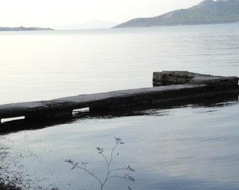 Fine Art Nature Photography- Aegina island- The Silver Shine- Dawn- coastline - water front- peaceful