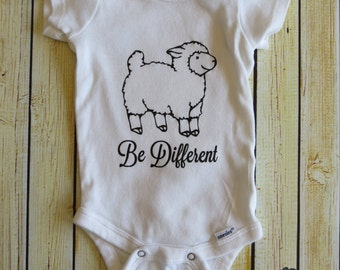 Be Different Sheep Baby Bodysuit